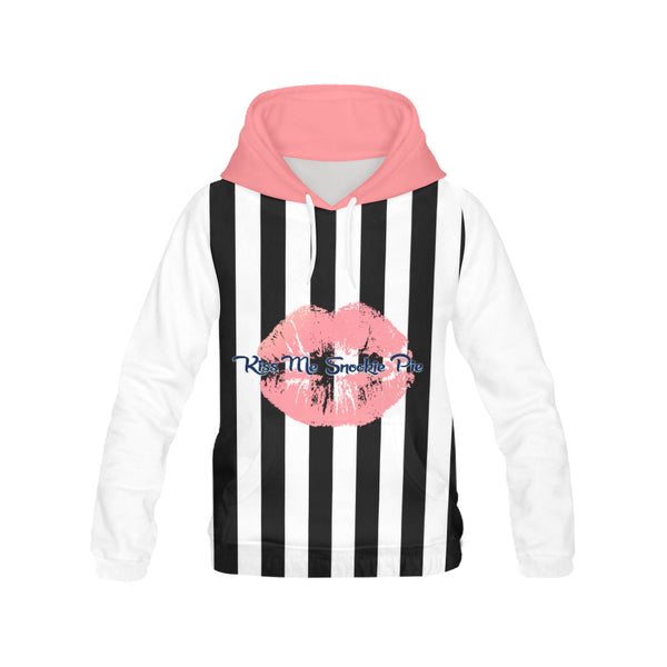 Hoodie H13/STRPS BW-MKiss 14Coral