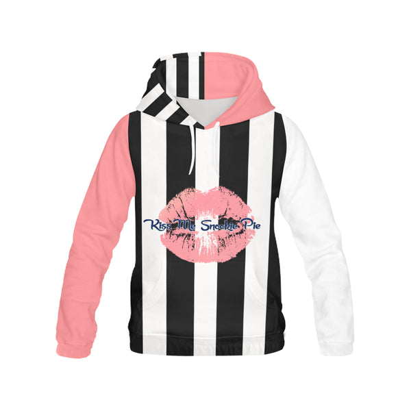 Hoodie H13/STRPS BW-MKiss 15XCoral
