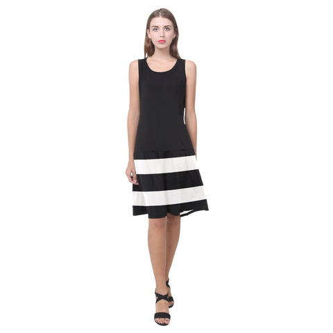 Splice Dress/BW-STRPS BLK63