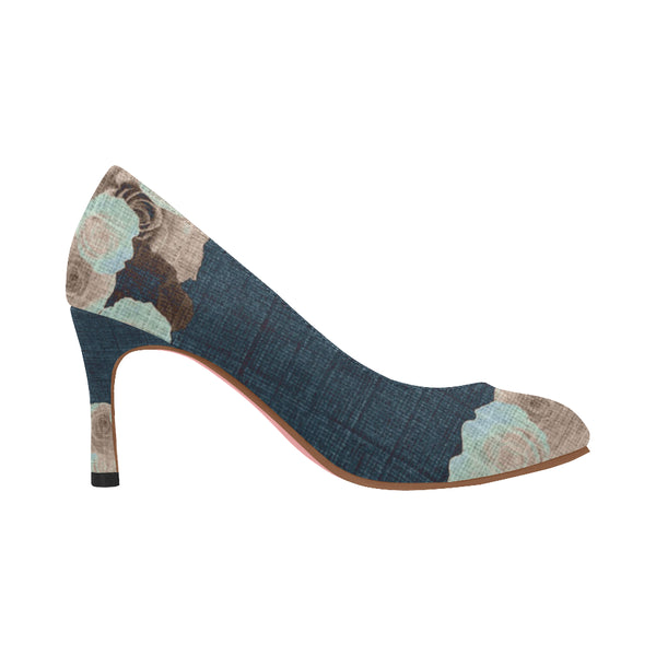 Nadine Pumps/Roses DENIM VINT