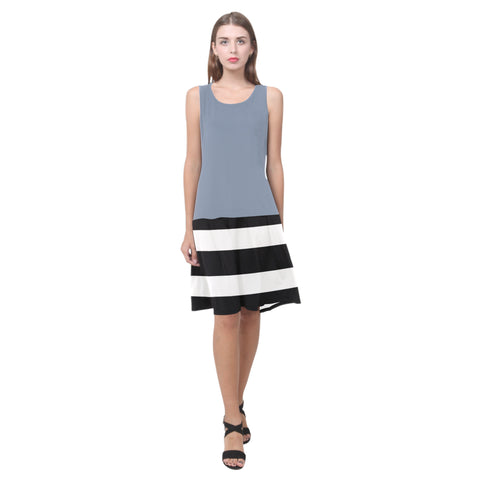 Splice Dress/BW-STRPS SLATE