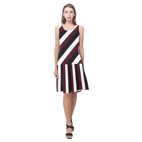 Splice Dress/Multi-STRPS BURG