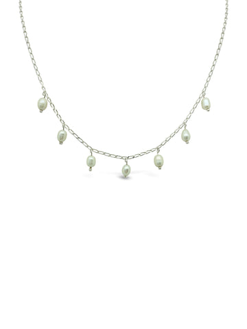 SCATTERED PEARL NECKLACE