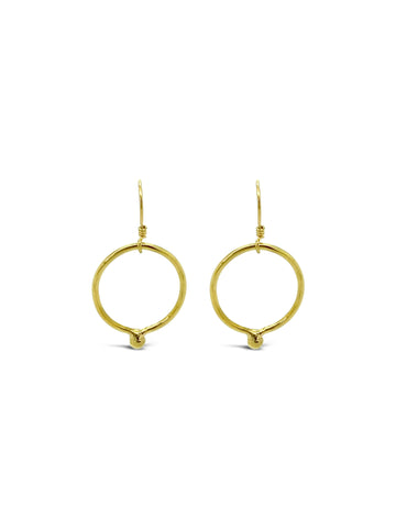 GOLD BALL RING EARRINGS