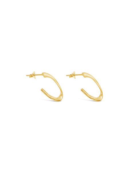 MINI HOOKED HOOPS, GOLD