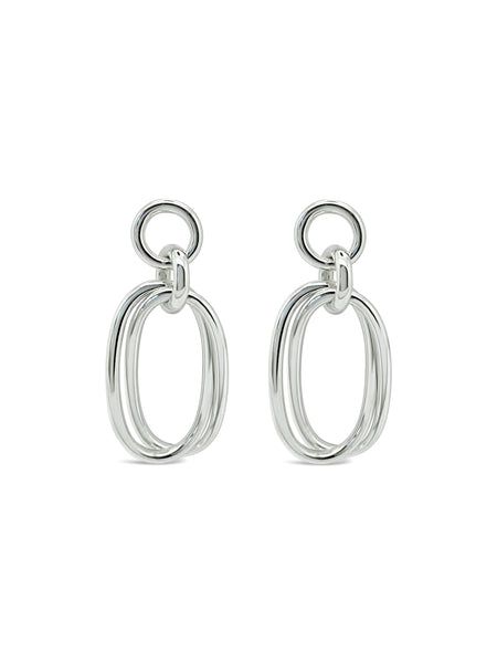 OVAL LINK'D EARRINGS