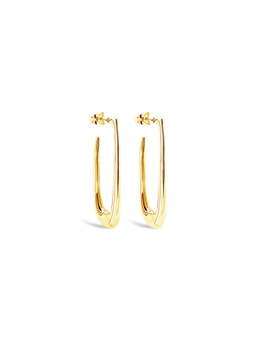 OVAL STRETCH HOOPS, GOLD