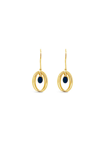 HALO'D OPAL EARRINGS, GOLD