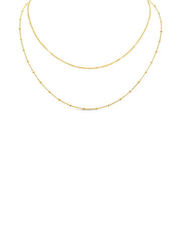LAYERS NECKLACE, GOLD