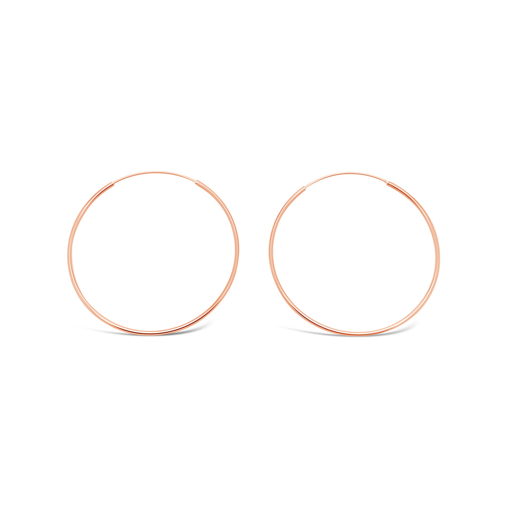 FINE ROSE GOLD HOOPS