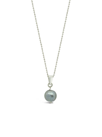FEATURED PEARL NECKLACE, BLUE/GREY