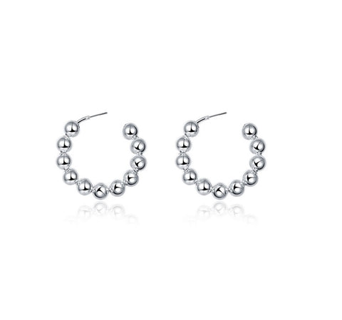 MULTI BALL HOOP EARRINGS