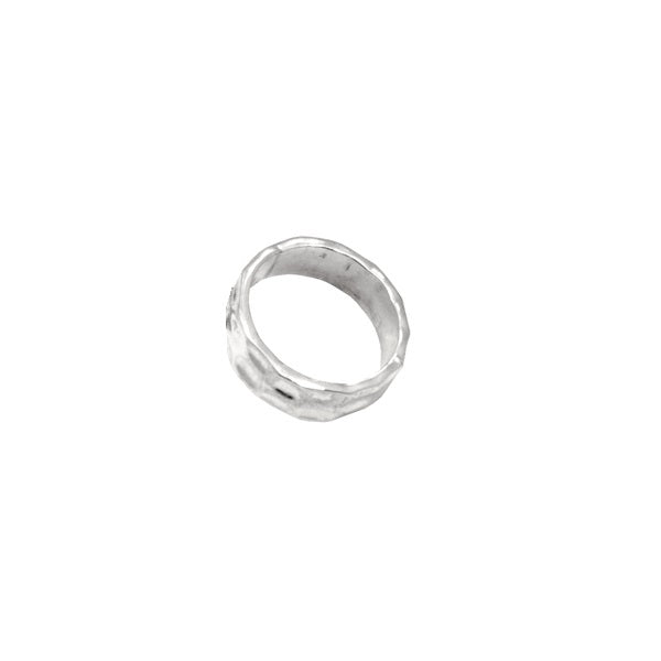 HAMMERED UNISEX RING