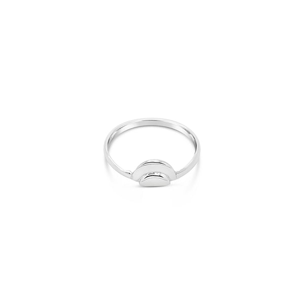 HALF DOUBLE CIRCLE RING
