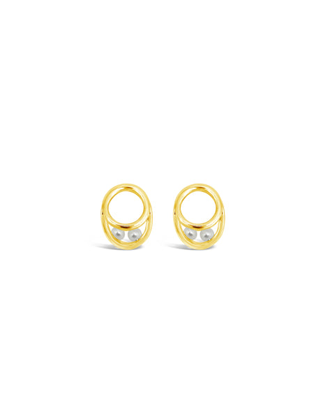 ETERNAL PEARL EARRINGS, GOLD