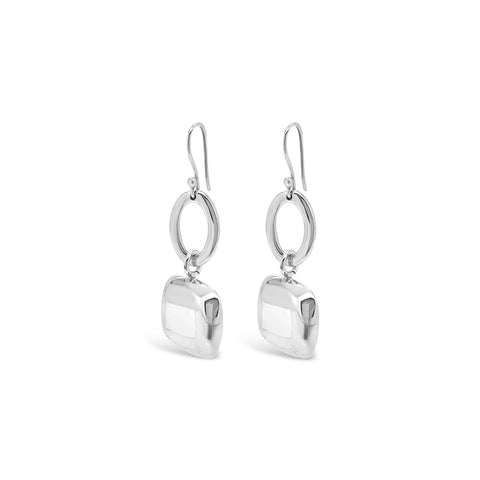 POLISHED SQUARE DROP EARRINGS
