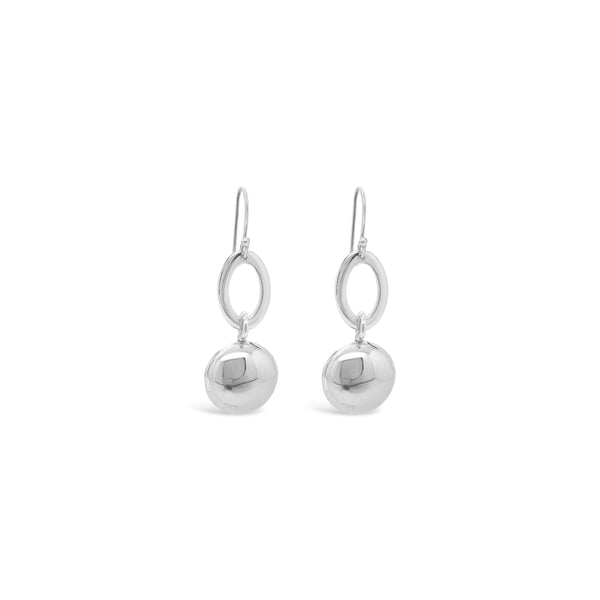 POLISHED CIRCLE DROP EARRINGS