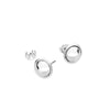 PLAIN EDGE BALL EARRINGS