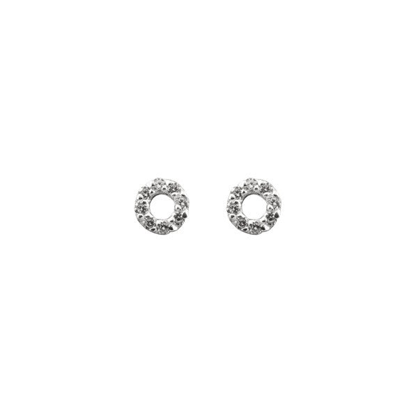 TINY OPEN CIRCLE CZ EARRINGS