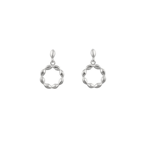 DETAILED CIRCLE DROP EARRINGS