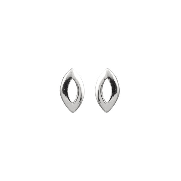 TINY OPEN OVAL EARRINGS