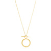 CUBIC ZIRCONIA TOGGLE NECKLACE, GOLD