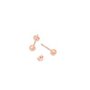 SMALL ROSE GOLD BALL STUDS