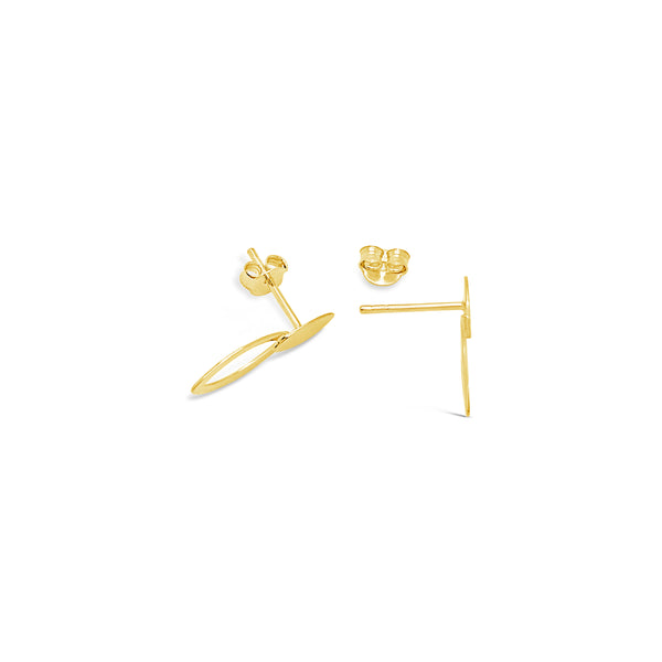 DOUBLE OVAL EARRINGS, GOLD