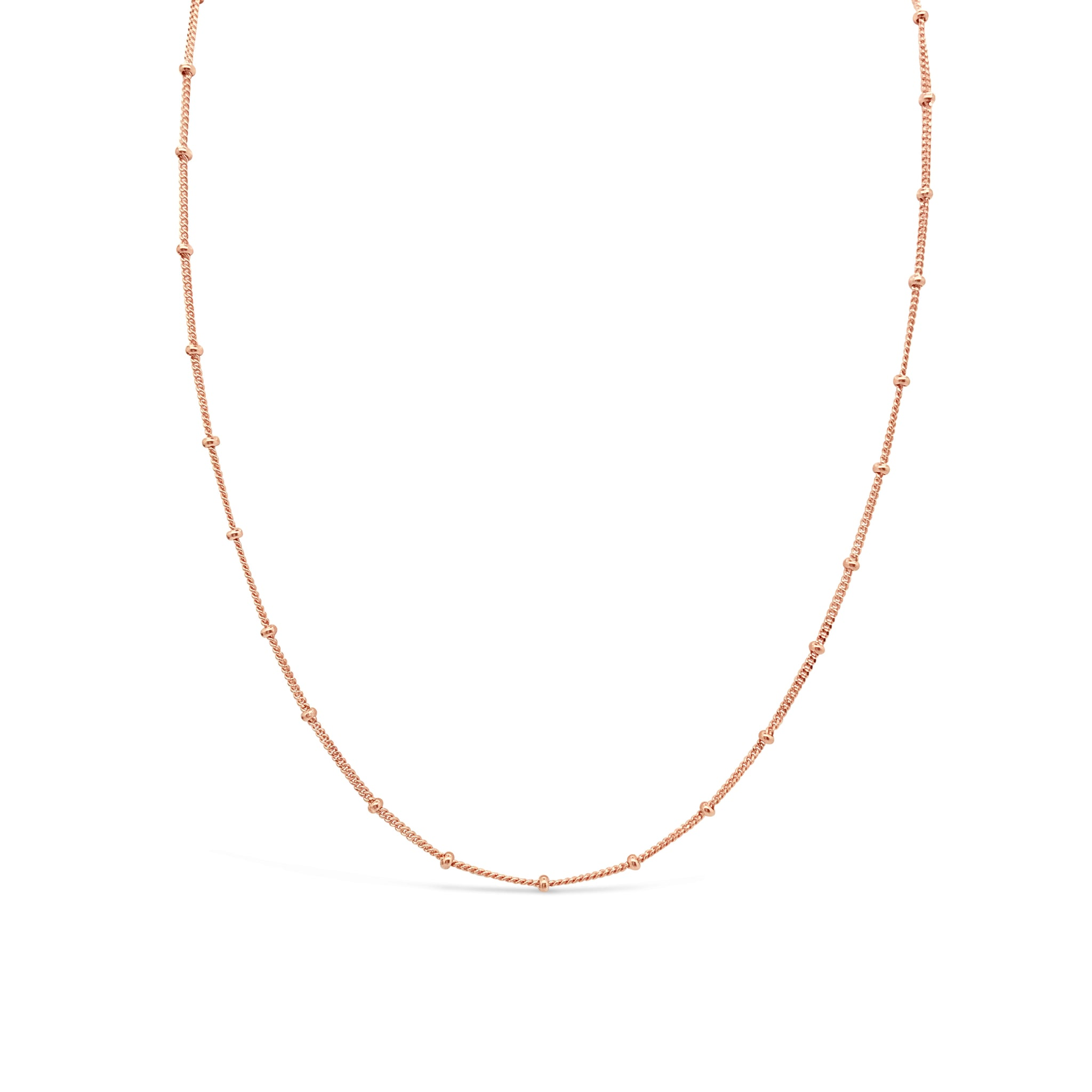 BALL CHAIN CHOKER, ROSE GOLD
