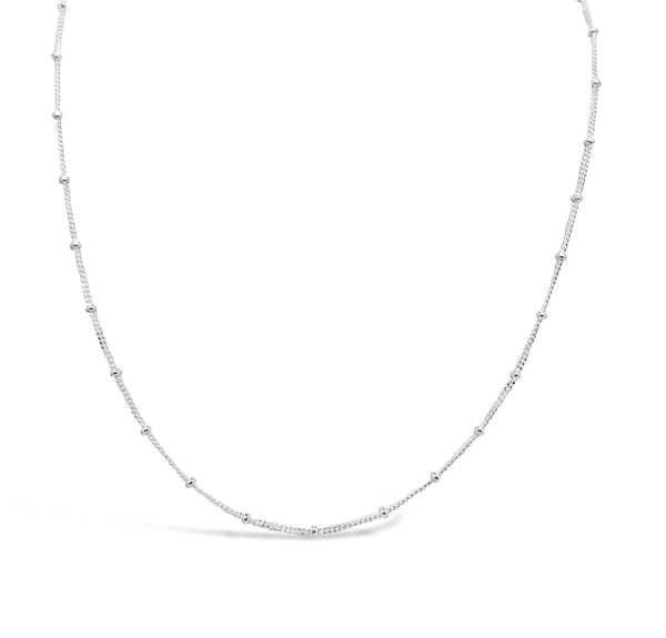 BALL CHAIN CHOKER, SILVER