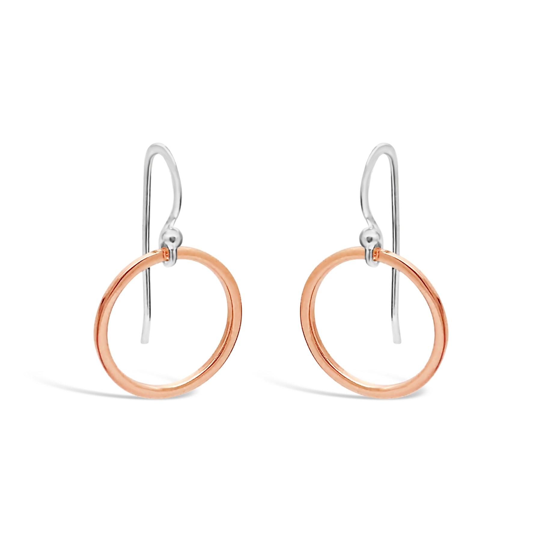 ROSE GOLD CIRCLE DROP EARRINGS