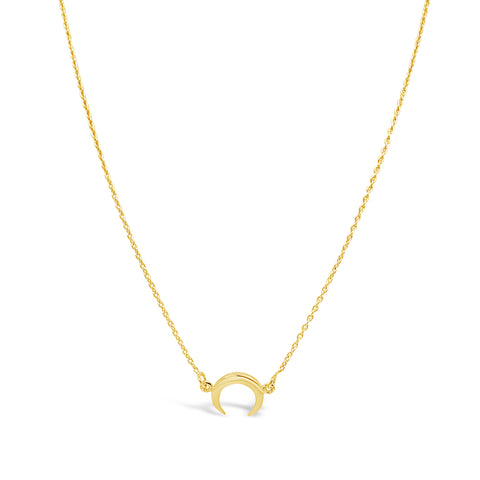 MINI MOON NECKLACE, GOLD