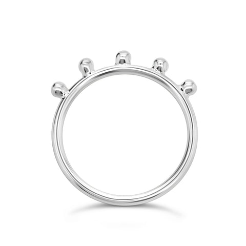 CROWNED BALL RING