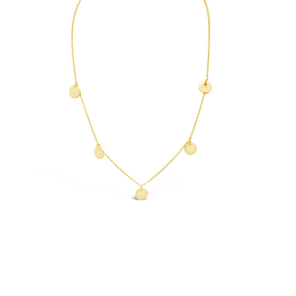 MULTI DISK NECKLACE, GOLD