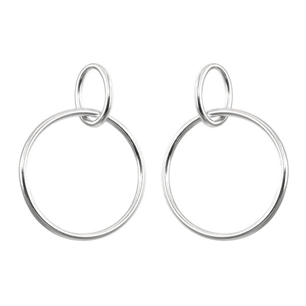 LARGE DOUBLE LOOP HOOPS