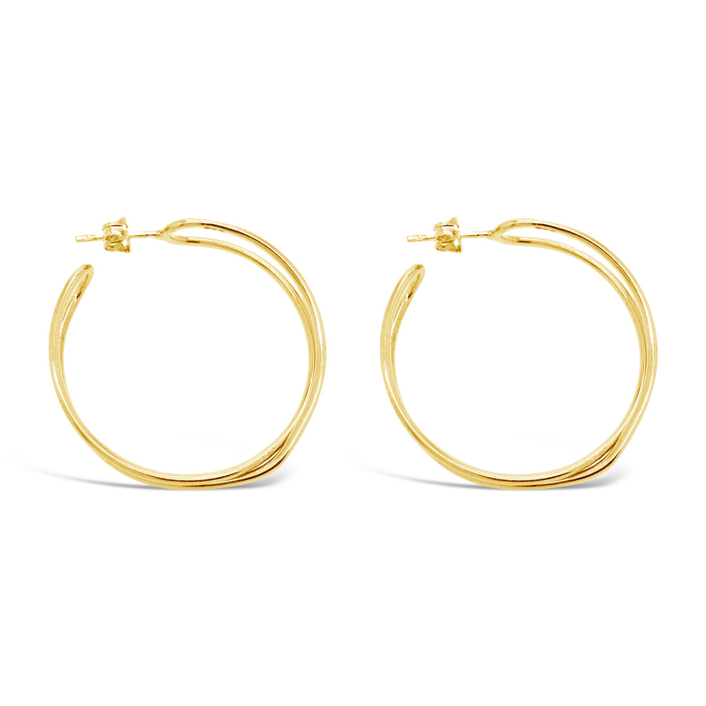 GOLD INTERTWINED HOOPS