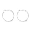 SILVER INTERTWINED HOOPS