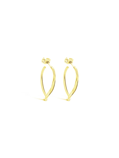 TWIST AND TURN HOOPS, GOLD