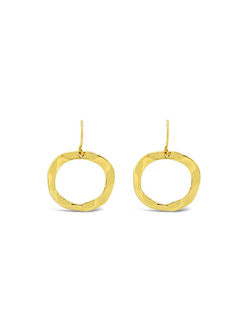 RIPPLE EARRINGS, GOLD