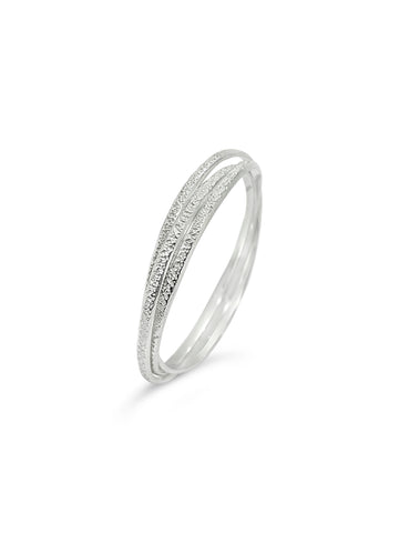 TEXTURED TRIO BANGLE