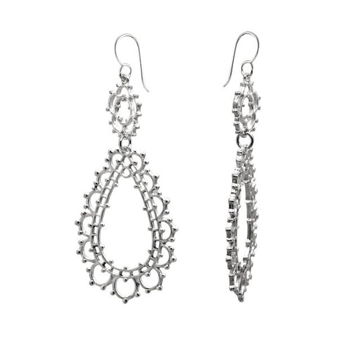 DETAILED TEAR DROP EARRINGS