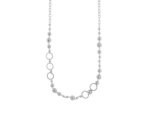 BALL & CHAIN CIRCLE NECKLACE