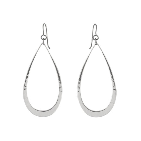 LARGE OPEN TEAR EARRINGS