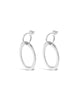 HOOPED OVAL EARRINGS