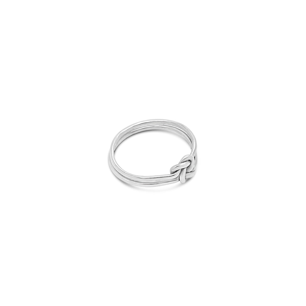 FINE DOUBLE KNOT RING