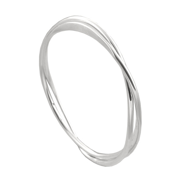 DOUBLE BAND TWIST BANGLE