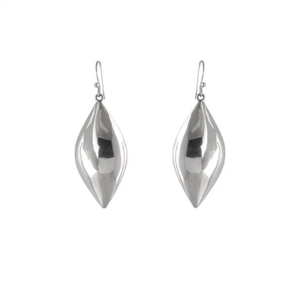 POLISHED PUFF POD EARRINGS