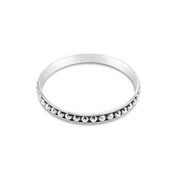 COMBINATION HALF BALL BANGLE