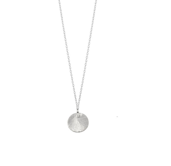 TINY SATIN CIRCLE NECKLACE
