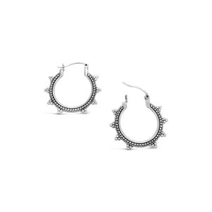 OXIDISED OVAL MINI HOOPS